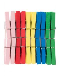 KCK Craft Wooden Pegs - Mixed Colours