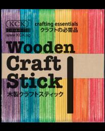 KCK Wooden Craft Sticks - Mixed Colours