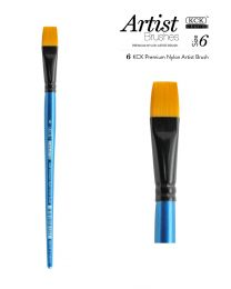 KCK Nylon Flat Watercolour Brush - Size  6