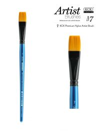 KCK Nylon Flat Watercolour Brush - Size  7