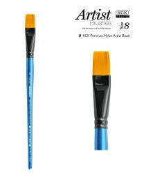 KCK Nylon Flat Watercolour Brush - Size  8