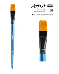 KCK Nylon Flat Watercolour Brush - Size  9