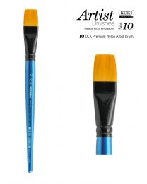 KCK Nylon Flat Watercolour Brush - Size  10