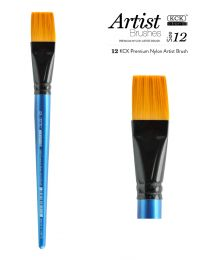 KCK Nylon Flat Watercolour Brush - Size  12