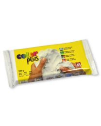 SIO-2 Coloured Natural Self-Hardening Clay - White COLORPLUS 500g