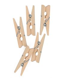 KCK Craft Wooden Pegs - Natural Wood