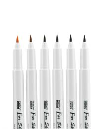 Marvy Uchida Brown Tone Brush - Set of 6