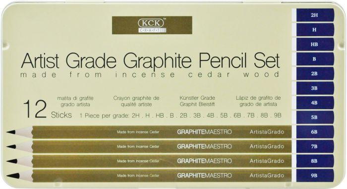 kck artist grade graphite pencil set